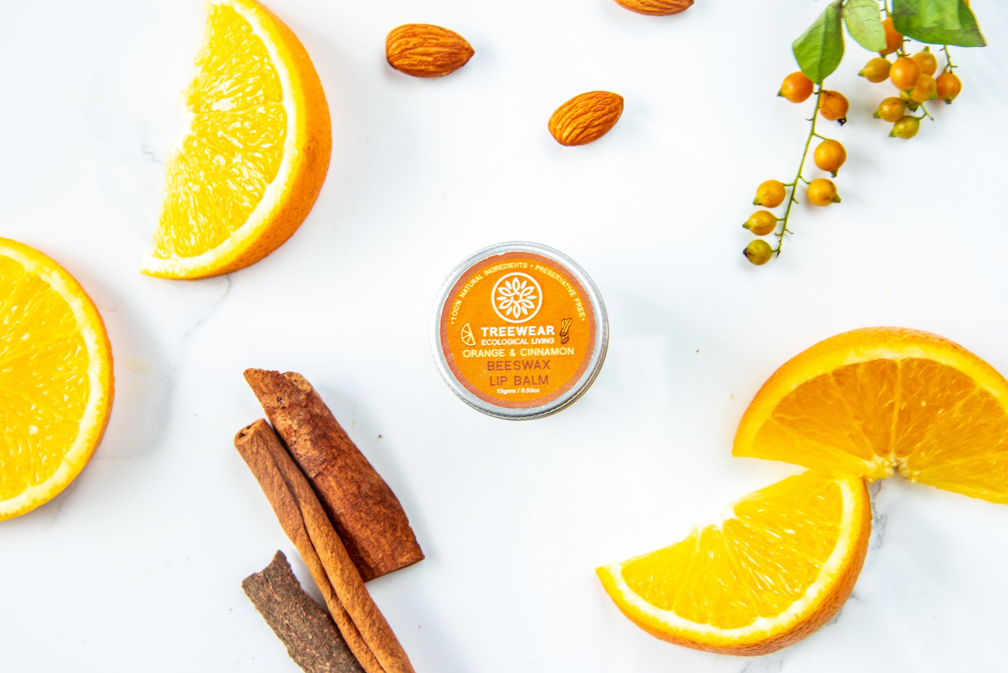 TREEWEAR Beeswax Lip Balm - Orange and Cinnamon