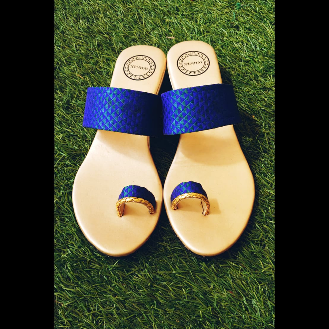 Blinkgreen ethnic sandals - Navy Blue