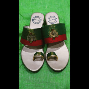 Blinkgreen ethnic sandals - Dark Green