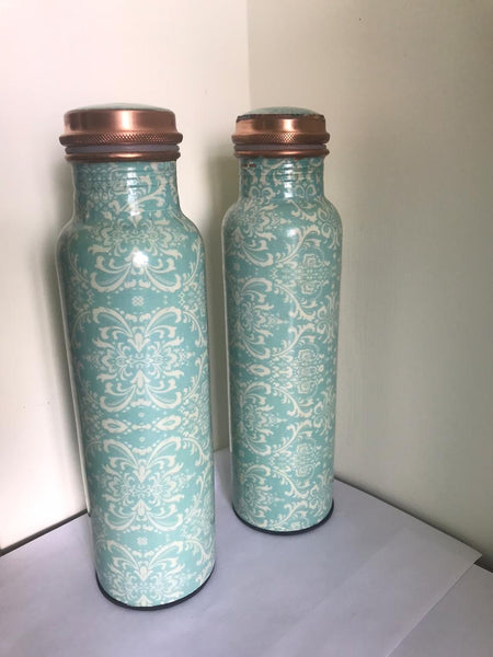 EcoKarma Printed Copper Bottle