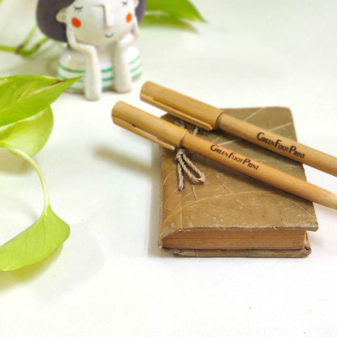 Bamboo Reusable Pens - Pack of 2, Pack of 3