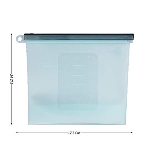 Femora Silicone Food Bag Reusable Seal Storage Container (1 L)