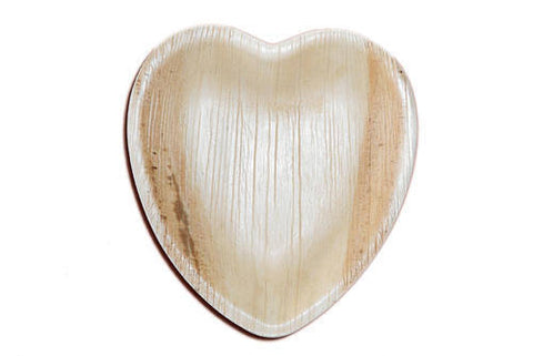 Heart shaped Areca leaf plates (Pack of 12)