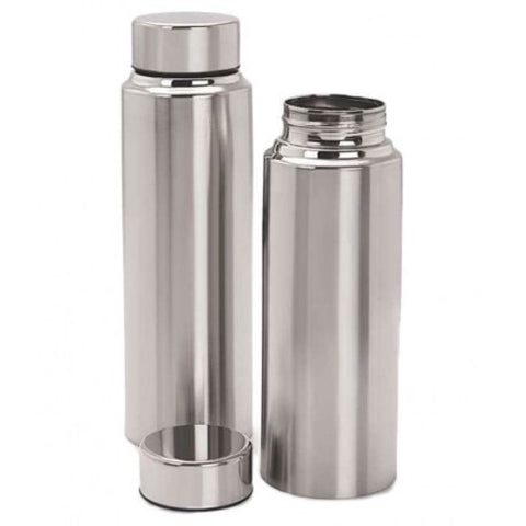 SET OF 6 FRIDGE BOTTLES (STEEL) 1 LITRE