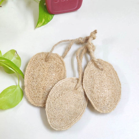 Natural Plant based loofah/ Bathing sponge - set of 3, set of 5
