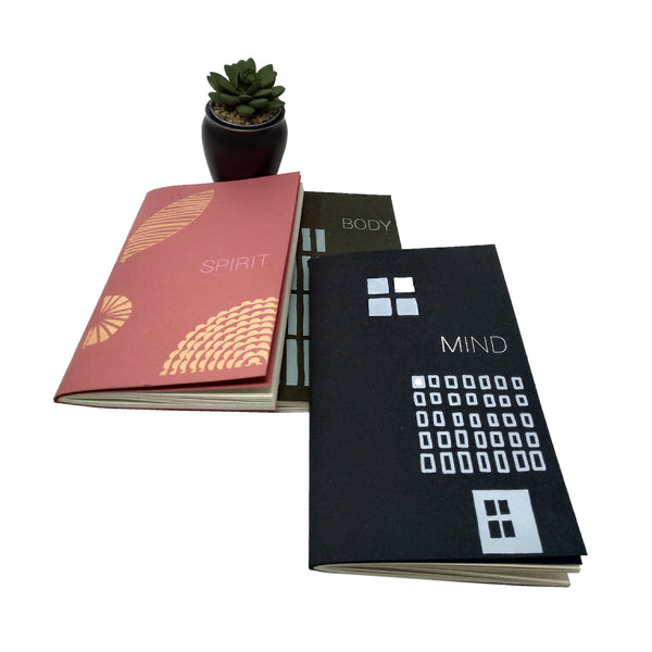Mini journals. For your Body , mind and spirit,. New attitudes. New paper