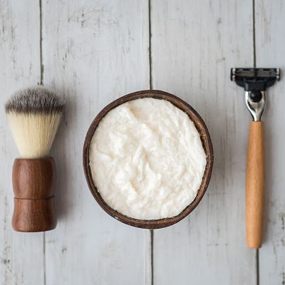 SHAVE SOAP KIT (BAMBOO RAZOR+WOODEN SHAVE BRUSH+SHAVE SOAP)