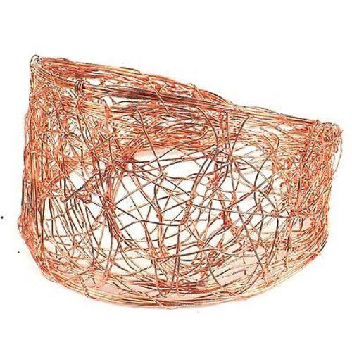 Scribble Design Wire Cuff in Copper Handmade and Fair Trade