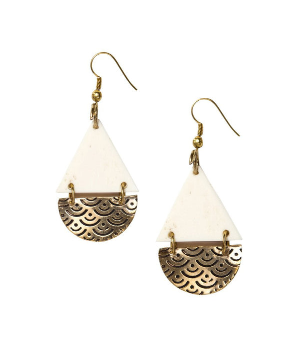 Anika Earrings Teardrop Design - Matr Boomie (Jewelry) - Handmade - KA Designs Online