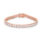 9.7Ct Princess Cut 7in CZ Rose Gold Bracelet - Bracelets - KA Designs Online