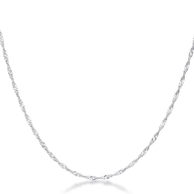 16 Inch Silver Twisted Chain - Necklaces - KA Designs Online