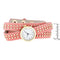 Pink Mini Studded Wrap Watch