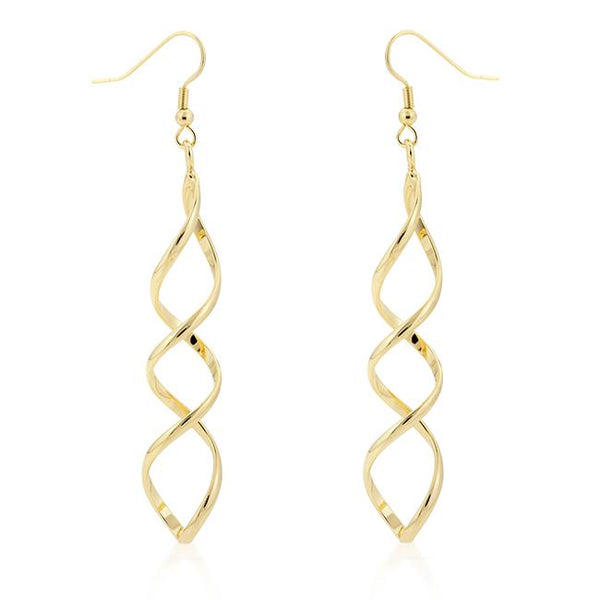 Golden Twist Earrings - Earrings - KA Designs Online