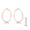 45mm Rose Gold Plated Hoop Earrings - Earrings - KA Designs Online