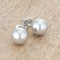 Julie Rhodium Sphere Stud Earrings - Earrings - KA Designs Online