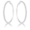 3.85Ct Silvertone Cup Chain Hoop Earrings - Earrings - KA Designs Online