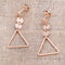 Trendy Triangle Stainless Steel Drop Earrings - Earrings - KA Designs Online