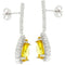 Canary Cubic Zirconia Drop Earrings - Earrings - KA Designs Online