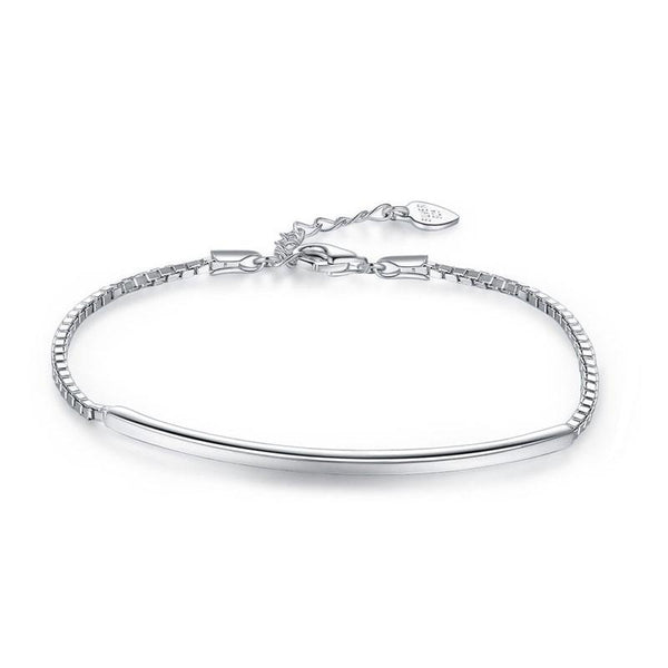 Solid 925 Sterling Silver Bracelet Fashion Birthday and Wedding Gift XFB8026 - Silver Bracelets - KA Designs Online