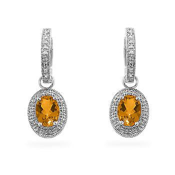 Citrine Formal Drops - Fine Jewelry - KA Designs Online