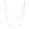 Carol 1.28ct CZ Rhodium Pave Disc Layered Station Necklace