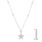.32Ct Rhodium Star Necklace with Shimmering CZ - Necklaces - KA Designs Online