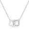 .21 Ct Rhodium Necklace with Floral Links - Necklaces - KA Designs Online