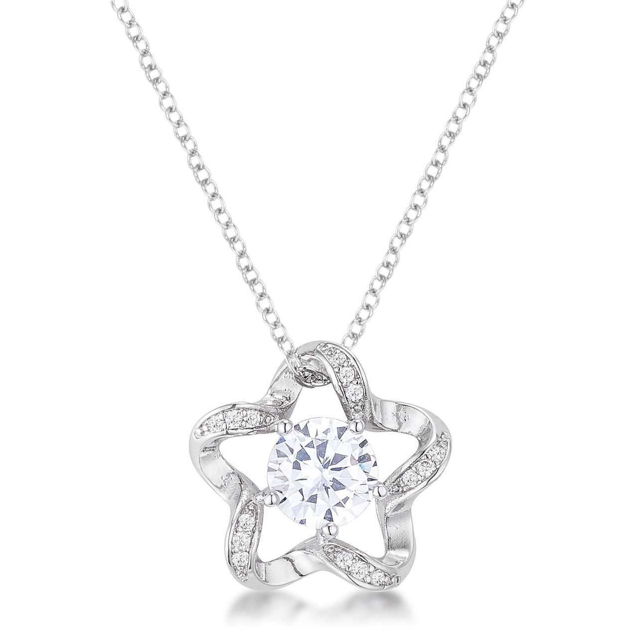 7mm Cubic Zirconia Star Fashion Pendant - Pendants - KA Designs Online