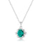 10mm Oval Cut Emerald CZ Fashion Pendant - Pendants - KA Designs Online