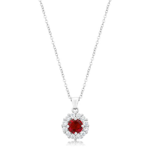 Bella Bridal Pendant in Ruby Red - Pendants - KA Designs Online