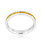 Stylish Stackables with Yellow Crystal Ring - Rings - KA Designs Online