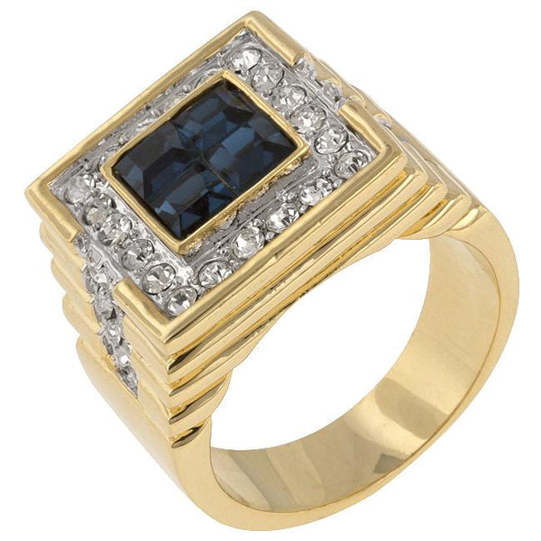 Deep Sea Cubic Zirconia Ring - Rings - KA Designs Online