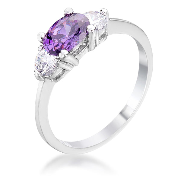 Oval Sonnet Cubic Zirconia Ring - Rings - KA Designs Online