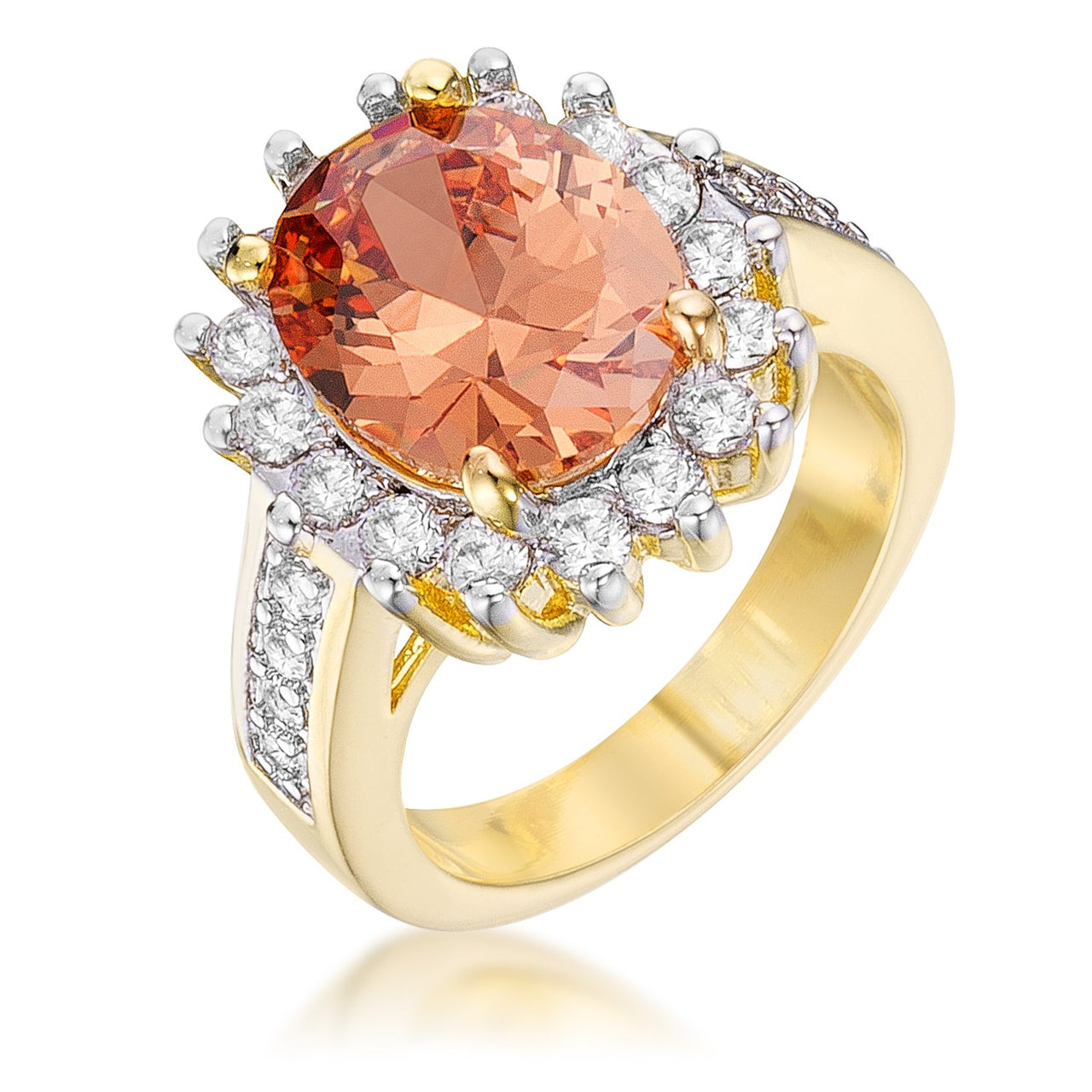 Champagne Cambridge Elegance Ring - Rings - KA Designs Online