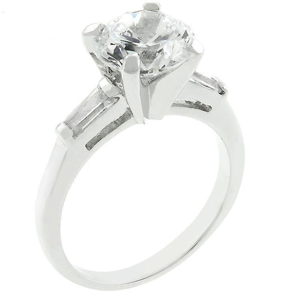 Classic Triple White Engagement Ring - Rings - KA Designs Online