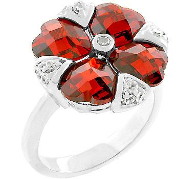 Garnet Artisan Ring - Rings - KA Designs Online