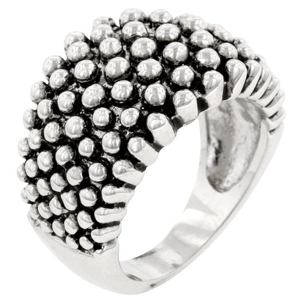 Studded Metal Ring - Rings - KA Designs Online