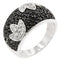 Black and White Tulip Ring - Rings - KA Designs Online