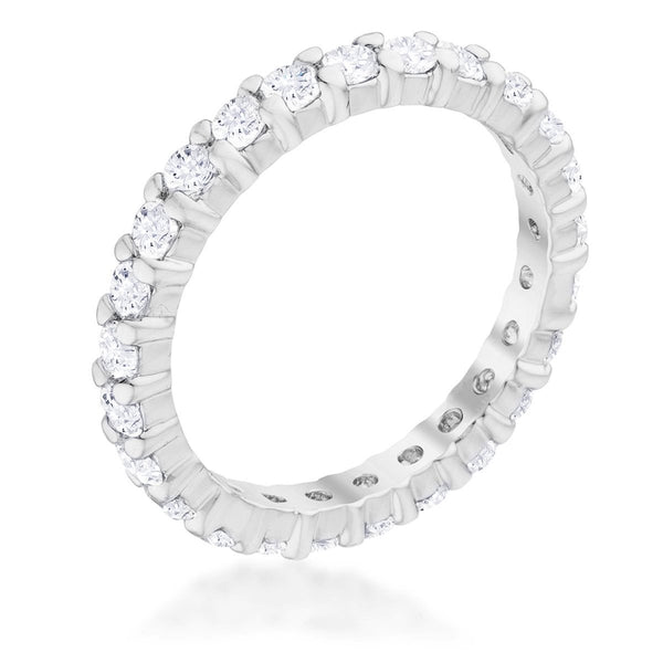 Cubic Zirconia Sterling Silver Eternity Band - Rings - KA Designs Online