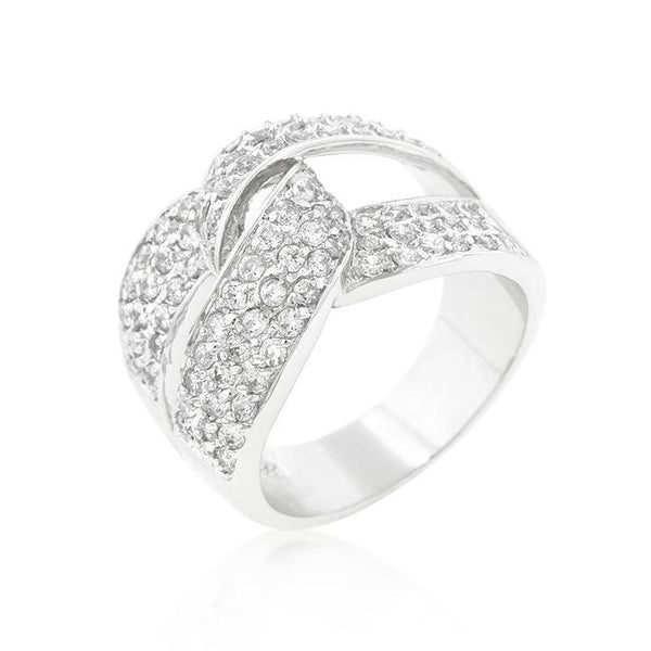 Cubic Zirconia Knot Ring - Rings - KA Designs Online