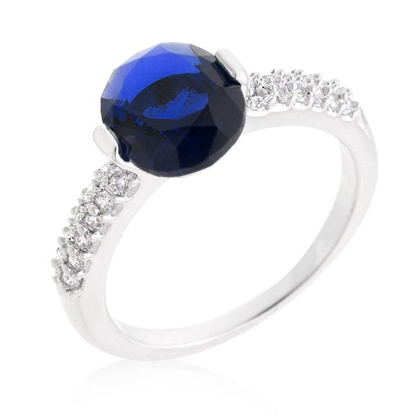 Blue Oval Cubic Zirconia Engagement Ring - Rings - KA Designs Online