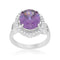 Amethyst Halo Cocktail Ring - Rings - KA Designs Online
