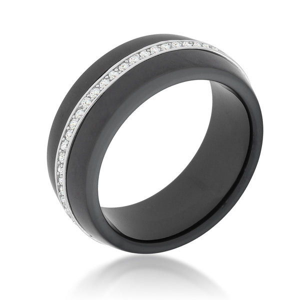 Ceramic Band Ring - Black - Rings - KA Designs Online