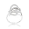 Bea 0.4ct CZ Rhodium Pave Butterfly Ring - Rings - KA Designs Online