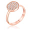 0.2ct CZ Rose Gold Pave Circle Ring - Rings - KA Designs Online