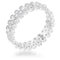 Clara 1ct CZ Rhodium Textured Bezel Set Eternity Ring - Rings - KA Designs Online