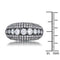 Krista 1.5ct CZ Hematite Contemporary Cocktail Ring - Rings - KA Designs Online