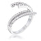 1.12Ct Delicate Rhodium Plated CZ Wrap Ring - Rings - KA Designs Online