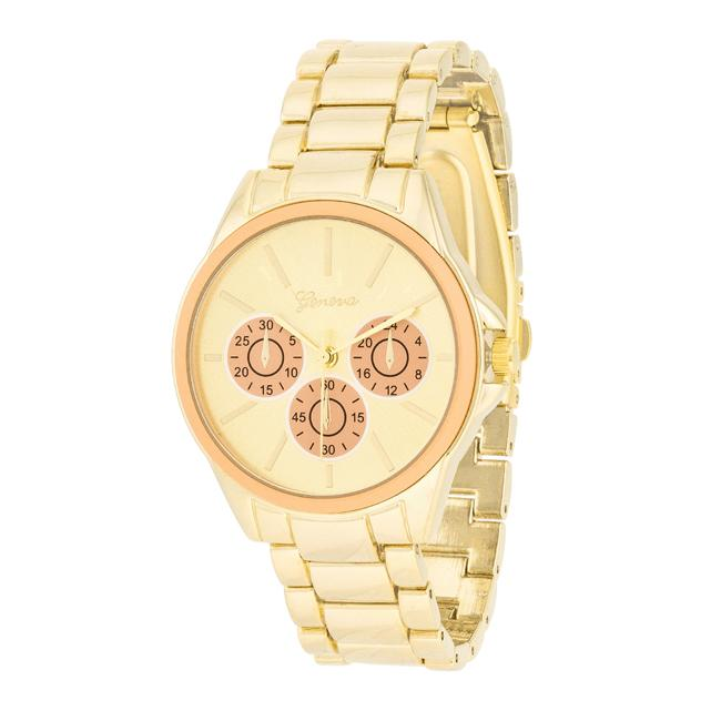 Chrono Gold Metal Watch - Watches - KA Designs Online