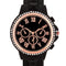 Ava Rose Goldtone Black Metal Watch With Crystals - Watches - KA Designs Online